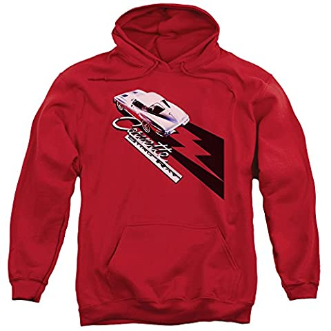 Chevy Automobiles Corvette Sting Ray With Split Windows Adult Pull-Over Hoodie