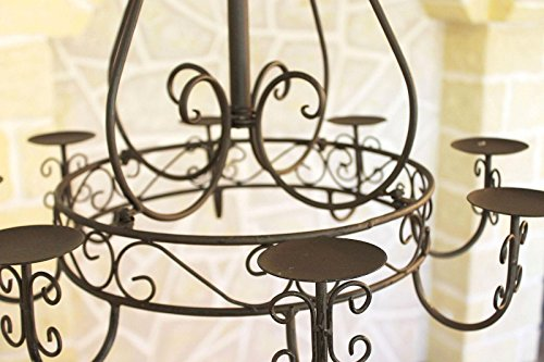 Kronleuchter 101318 Hängeleuchter D-60cm Deckenleuchter Kerzenständer Kerzenhalter aus Metall - 3