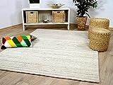 Theko Natur Teppich Berber Aruna Beige Melange in 7 Größen