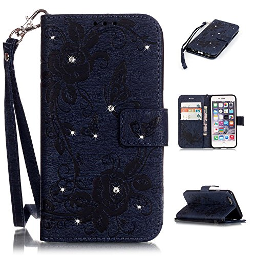 Nutbro iPhone 6 Plus Case, 5.5 inch for Apple iPhone 6S Plus (2015), [Stand Feature] with Built-in Credit Card Slots Wallet Case for iPhone 6 Plus (2014) 5.5 inch Dark Blue