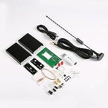 100KHz-1.7GHz Full-Band FM DSB UV HF RTL-SDR Receptor sintonizador USB R820T + RTL2832U + U / V Antenna DIY Kits Software Radio Colorido