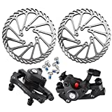 Backtour® Edelstahl Fahrrad Bremse Rotor mit clipers Set Kit Bremsscheiben