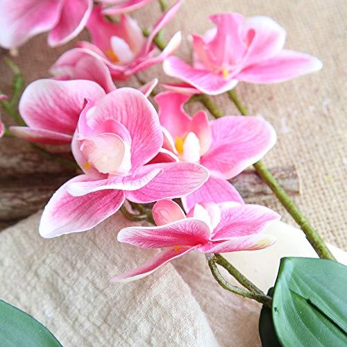 Yazidan Künstliche Seide gefälschte Blumen Blumen Hochzeit Bouquet Party Dekor Schöner Schmetterlings-Orchideen-Seidenblumen-Haupthochzeits-Phalaenopsis-Blumenstrauß\\n