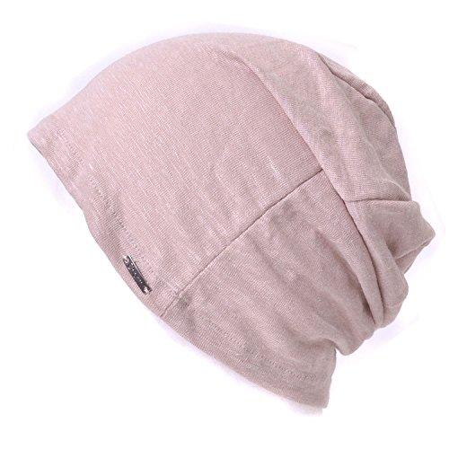 Casualbox Damen Beanie Leinen Sommer Aus Japan Hut Stricken Mütze Geringes Gewicht Pink