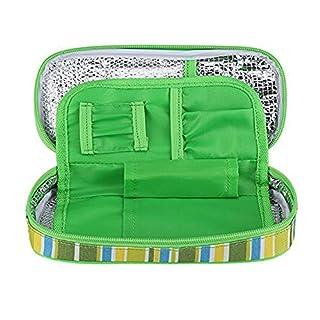 Amasawa Tragbarer Insulin Gefrierschrankkoffer, Diabetiker Organisator Medizinischer Kühltasche Kasten für Reise im Freien (Grün)