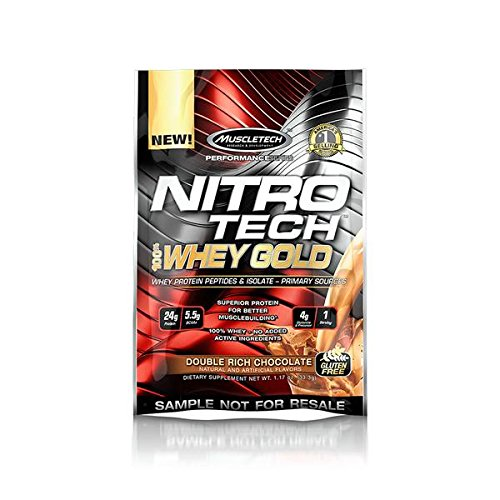 Muscletech Nitrotech Whey Gold Performance Series - 3.6 kg (Double Rich Chocolate) at amazon