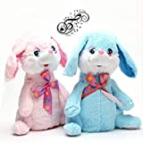 Funny Teddy Dancing & Singing Plush Rabbit Music Soft Toy Rabbit Ears Hands Moves Up Down (Pink)