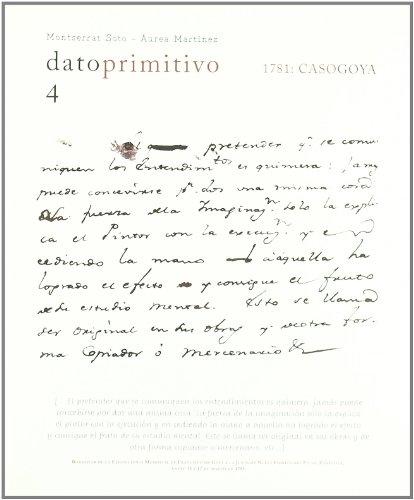 Dato primitivo 4 : 1781 : caso Goya