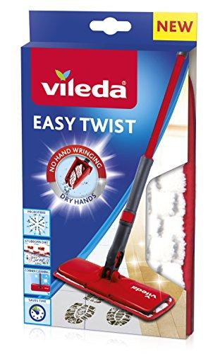 Vileda Easy Twist Ersatzbezug Bodenwischbezug, Stoff, Rot, 13 x 2 cm (Refill Mop Twist)