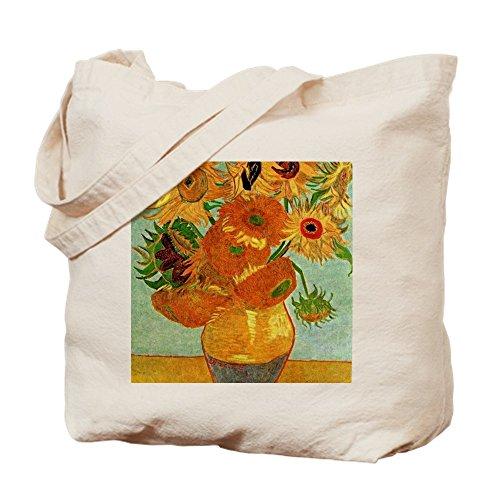 CafePress-Van Gogh-Still Life Vase mit zwölf SU-Leinwand Natur Tasche, Reinigungstuch Einkaufstasche Tote S khaki