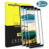 NONZERS Vetro Temperato per Samsung Galaxy Note 9, [2 Pezzi] 9H Durezza Pellicola Vetro, 3D Copertura Completa, Anti-Graffio, Senza Bolle, Facile da Installare, Note 9 Pellicola Protettiva, Nero