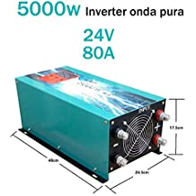 Inverter Pure Wave 5000w Onda Pura Del Seno DC 24V to AC 230V+LCD+Cargador Inverter Pure Wave
