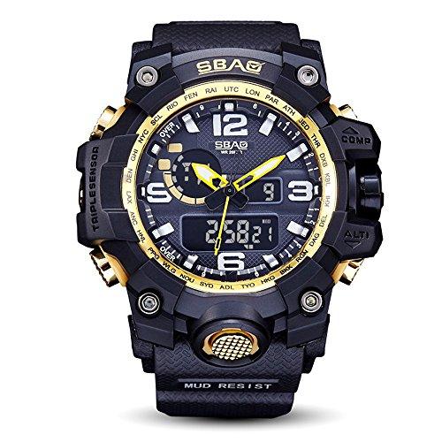 ba8407d7f9e1 Neu Armbanduhr FGHYH Männer SBAO Watch LED Men Waterproof Sports Watches  Shock Digital Electronic Uhr Armbanduhr