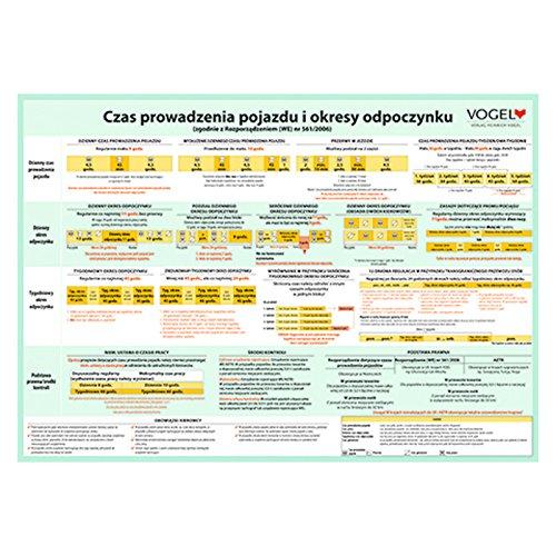 Plakat Lenk- und Ruhezeiten in polnischer Sprache Aushang Poster LKW Güterverkehr Fahrzeit Fahreranweisung