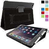 Étui iPad Air 2, Snugg™ - Coque de Protection en Cuir Noir, Style Smart Case Avec Garantie à Vie Pour Apple iPad Air 2
