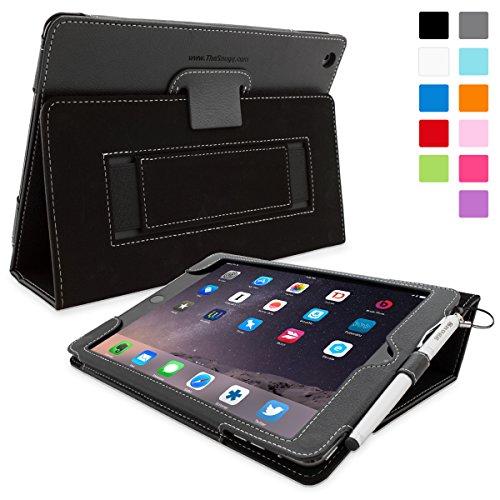 r 2, Snugg ™–Schutzhülle schwarz Leder, Stil Smart Case mit Lebenslange Garantie für Apple iPad Air 2 (Snugg Ipad 2 Case Mit Tastatur)