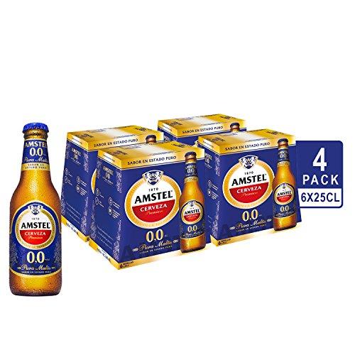 Amstel 00 Beer - 4 Packs of 6 Bottles x 250 ml - Total: 6 L