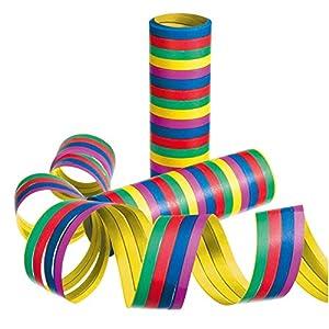 Susy tarjeta 11144698 - serpentinas, rayas, color clasificado, 3 rollos