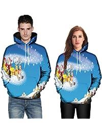 SEWORLD Weihnachten Vintage Christmas Männer Frauen Modus 3D Weihnachten Drucken Langarm Paare Hoodies Top Bluse Shirts