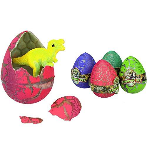 Isuper Dino Eier, 10 Stück Zauberhafte Wachsende Dinosaurier Eier Kinder Spielzeug (Bunt) (Spiele Schlüpfen Ei Dinosaurier)