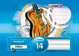 Landre 100050476 Notenheft/folleto de la música, paisaje A5, 8 hojas, Sentencia 14 sin guías 80 g/m² fino, papel de escritura libre de madera 25-pack