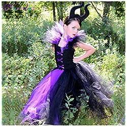 2019 Queen Girls Tutu Dress Disfraz de Bruja de Halloween para niñas Princess Kids Party Dress Ropa para niños