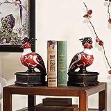 Étagère à livres Décoration artisanat étude décoration style américain décoration de la maison...