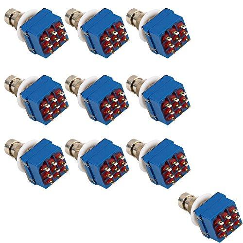 e-support-10-x-3pdt-9-pins-box-stomp-gitarren-effekt-pedal-fuschalter-true-bypass-metall-blau