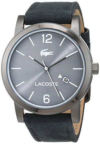 Lacoste Mens Analogue Classic Quartz Watch with Leather Strap 2010926