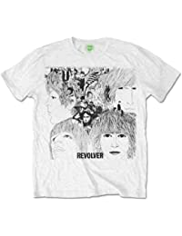 The Beatles Men's Revolver Album Cover Short Sleeve T-Shirt