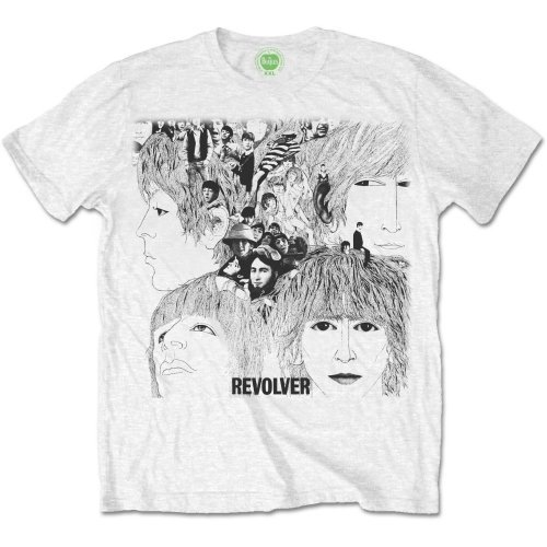 Rock Off The Beatles Revolver Album Cover, Camiseta para Hombre, Blanco (Weiß), (Talla Fabricante: X-Large)
