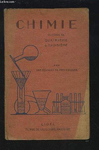 COURS DE CHIMIE PAR UNE REUNION DE PROFESSEURS - CLASSES DE 4° ET DE 3°.