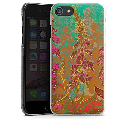 Apple iPhone X Silikon Hülle Case Schutzhülle Blumen Muster Art Hard Case transparent