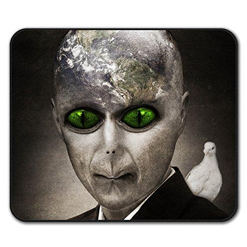 Ausländer UFO Mystiker Fantasie Erde Globus Nicht Unterhose Maus Polster 24cm x 20cm | (Hexe Globus)