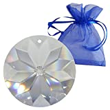 Kristall Sonne d.40mm im feinem Geschenkbeutel - Hoch Brillant! - Exklusiv - Kristall Scheibe - Regenbogenkristall - Feng Shui - Esoterik - Fensterschmuck - Facettenreich - Kristallbehang - Suncatcher
