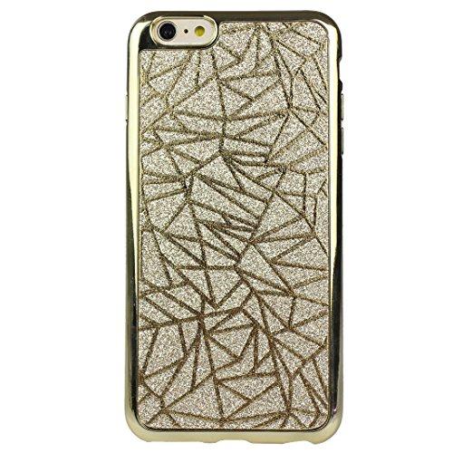 2 PCS TPU Silikon Hülle für iPhone 6 / iPhone 6S Glitter Case, iPhone 6S Hülle Streifen, Moon mood® Kristall Sparkle Schutzhülle für Apple iPhone 6S / 6 mit Streifen Thin Dünn Weich TPU Schutz Etui Co 2PCS-1