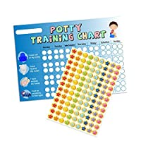 A3 Blue Boys Potty/Toilet Training Chart & Star Stickers for Teachers, Parents & Schools