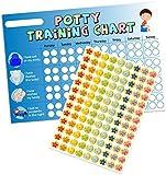 A3 Blue Boys Potty / Toilet Training Chart & Star Stickers for Teachers, Parents & Schools