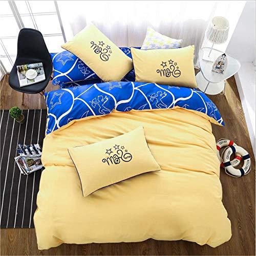 SHJIA Heimtextilien Bettwäsche-Sets Erwachsene Bettbezug König Queen Size Bettbezug Kurze Bettwäsche Tröster F 220x240 cm