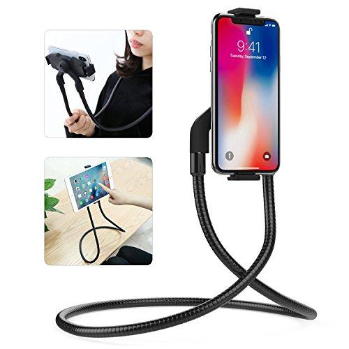 "MoKo Universal Tablet / Handy Stnder, Flexible Lange Metall Arme Faule Handy Halterung Stnder fr 4 ""- 10,5"" Smartphones und Tablets, iPhone Xs Max/XR/Xs/X, Samsung 9/9 Plus, ipad 9,7 2017/2018 Schwarz"
