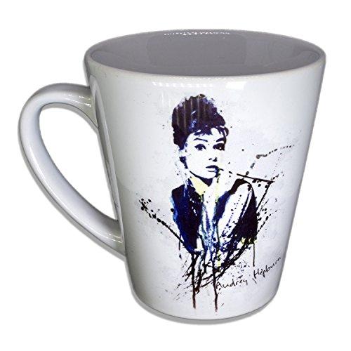 Audrey Hepburn - Unikat Handarbeit Designer Tasse aus brillanten Porzellan - Tasse, Becher,...