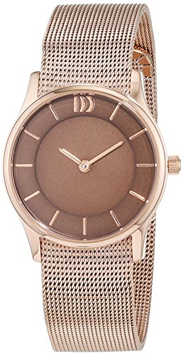 Danish Design Women's Quartz Watch with Black Dial Analogue Display Quartz Stainless Steel Coated 3320202