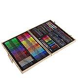 AYUE® 251 pcs Artiste Set Art Storage Case Avec Des Fournitures Pour le Dessin Sketching Peinture Acrylique Pastels Brosses