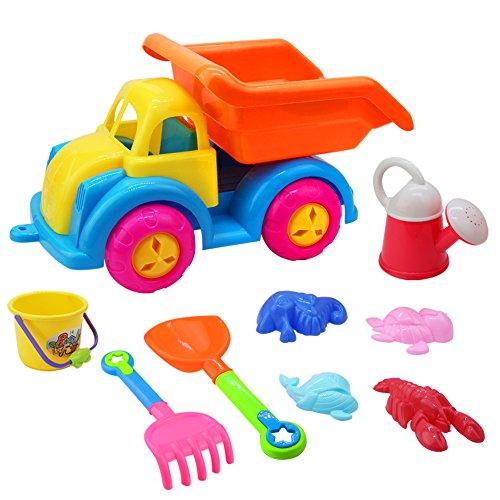 Jeux de Plage Jouet Sable avec Jouet Voiture Camion Jouet de Neige en Filet Hiver Portable Jeux Exterieur Enfant 3 4 5 Ans