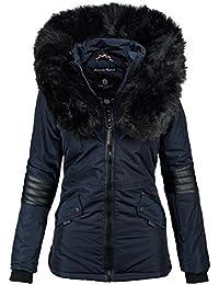 687d74b9c7c3 Navahoo Damen Winter Jacke Designer Parka Kunstfell Winterjacke B369