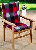 Schwar Textilien Gartenstuhlauflagen Sitzauflagen Auflagen für Niedriglehner Rot Grau UVP 19,95