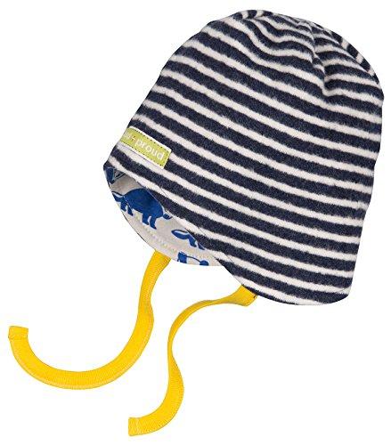 loud + proud Unisex Baby Mütze Fleece-7013, Blau (Midnight/Natural Mi/Na), 35 (Herstellergröße: 50/56)