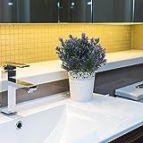 Nahuaa lila pflanzen 4 stücke künstliche kunststoff pflanzen dekoration künstliche sträucher dekoration büro garten balkone park - 6
