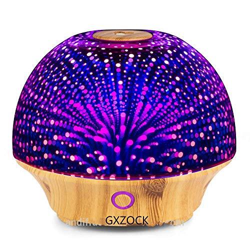 Schöne 200 ml ätherisches Öl Diffusor Nachtlicht 3D Effekt kühlen Nebel Luftbefeuchter Ultraschall Aromatherapie Diffusor/3D Effekt Ultraschall Glas Licht -