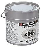 Flüssig-Zink Dose Farbe: silber inkl. 4er Set Pinsel und Drahtbürste (2,5 Kilogramm)